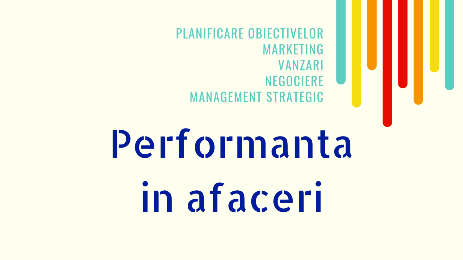 Performanta in afaceri